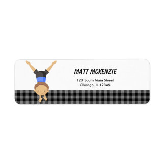 Gymnastics Boy Return Address Label