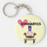GYMNASTICS - Brunette Girl Handstands Keychains