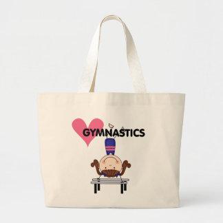 GYMNASTICS - Brunette Girl Handstands Large Tote Bag