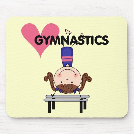 GYMNASTICS - Brunette Girl Handstands Mouse Pad