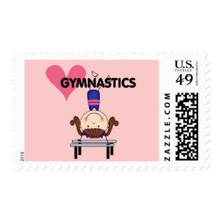 GYMNASTICS - Brunette Girl Handstands Postage