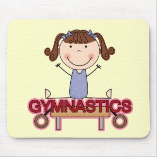 GYMNASTICS - Brunette Girl Splits Tshirts and Gift Mouse Pad