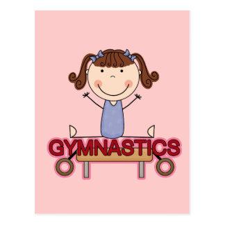 GYMNASTICS - Brunette Girl Splits Tshirts and Gift Postcard