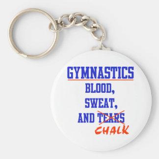 Gymnastics BS&C Basic Round Button Keychain