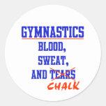 Gymnastics BS&C Round Stickers