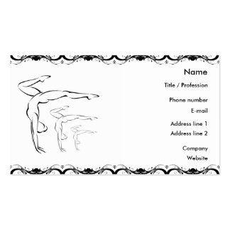 Gymnastics Business Card
