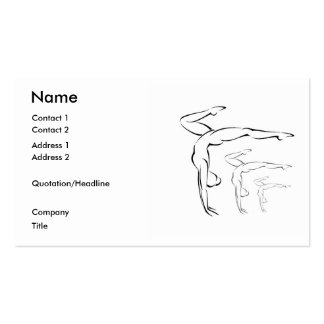 Gymnastics Double-Sided Standard Business Cards (Pack Of 100)
