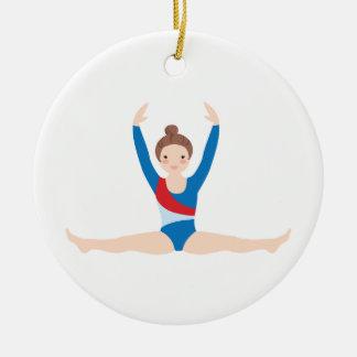 Gymnastics Ceramic Ornament