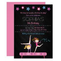 Gymnastics Chalkboard Birthday Card