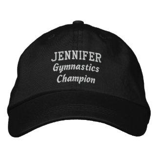 Gymnastics Champion Custom Name V07W Embroidered Baseball Cap
