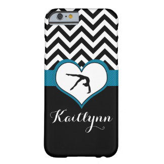 Gymnastics Chevron Heart with Monogram in Black Barely There iPhone 6 Case