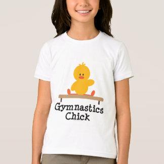 Gymnastics Chick Girls Ringer T-shirt