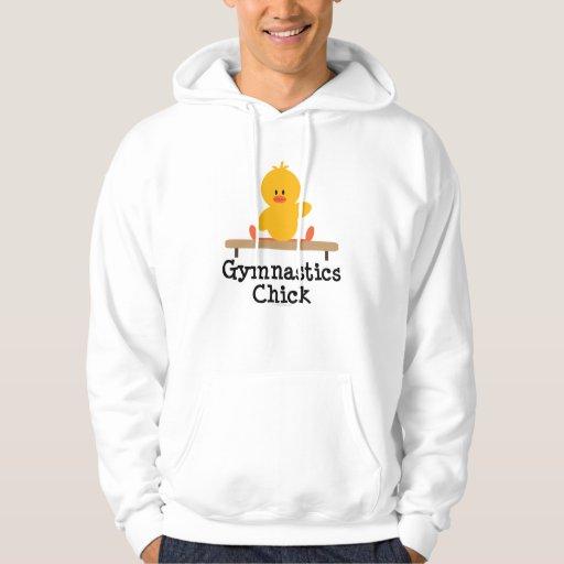 Gymnastics Chick Hooded Sweatshirt