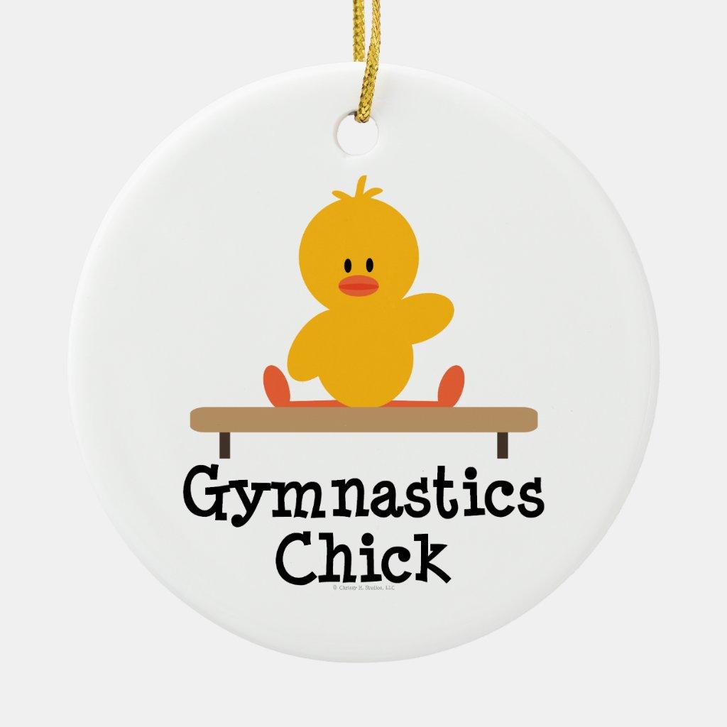 Gymnastics Chick Ornament