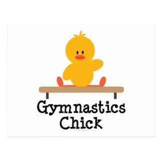 Gymnastics Chick Postcard
