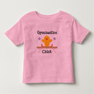 Gymnastics Chick Toddler Ringer Tee