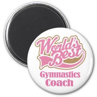 Gymnastics Coach Gift 2 Inch Round Magnet