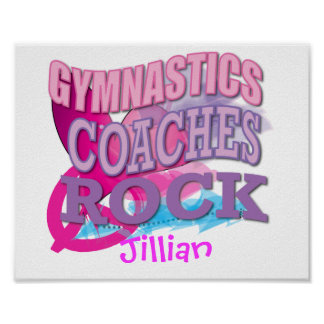 Gymnastics Coaches Gifts Poster