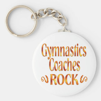 Gymnastics Coaches Rock Keychain