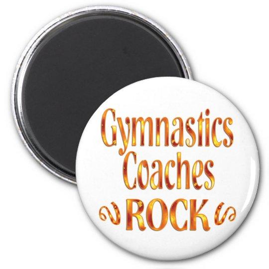 Gymnastics Coaches Rock Magnet