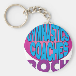 Gymnastics Coaches Rock Shirts Keychain