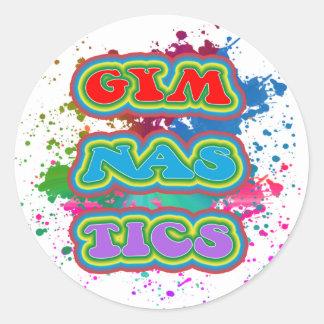 Gymnastics Color Splash Stickers
