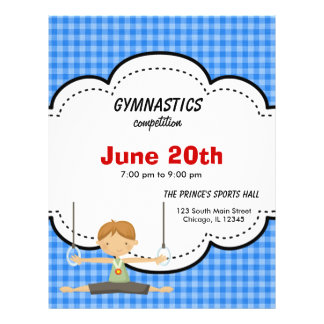 Gymnastics Competition Blue Custom Flyer