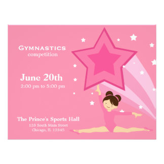 Gymnastics Competition Personalized Flyer