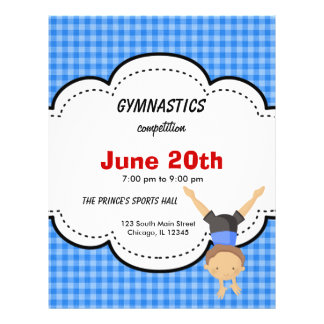Gymnastics Competition Full Color Flyer