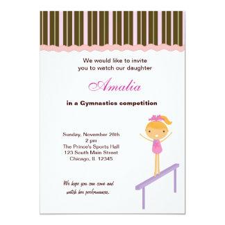 Gymnastics Competition 5x7 Paper Invitation Card