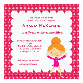 Gymnastics Competition Personalized Announcement