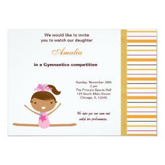 Gymnastics Competition Personalized Invitation