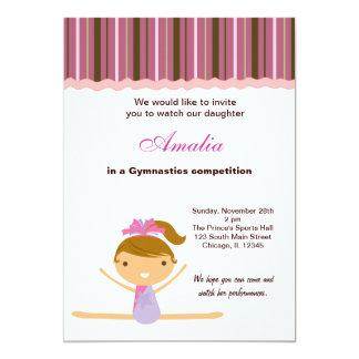 Gymnastics Competition Personalized Invitations
