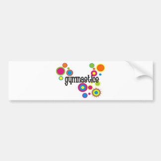 Gymnastics Cool Polka Dots Bumper Sticker