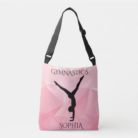 Gymnastics cross body two sided tote. crossbody bag