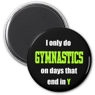 Gymnastics Days 2 Inch Round Magnet
