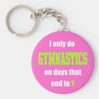 Gymnastics Days Basic Round Button Keychain