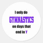 Gymnastics Days Classic Round Sticker
