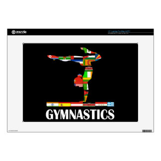 "Gymnastics Decal For 15"" Laptop"