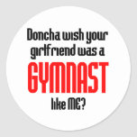 Gymnastics Doncha Classic Round Sticker