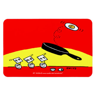 Gymnastics Eggs Cartoon Funny Extra Large Magnet