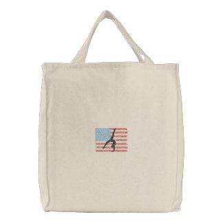Gymnastics Embroidered Tote Bag