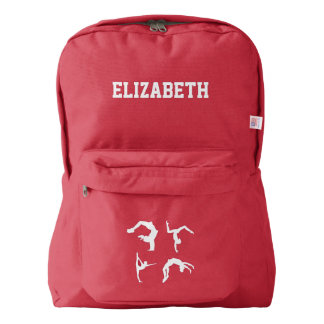 Gymnastics Exercise Name Customized American Apparel™ Backpack