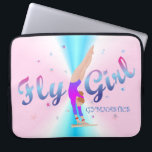 "Gymnastics - Fly Girl Laptop Sleeve<br><div class=""desc"">a gymnast on the uneven bars</div>"