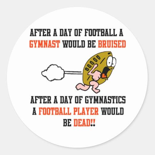 Gymnastics Football Classic Round Sticker