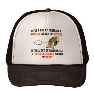 Gymnastics Football Trucker Hat
