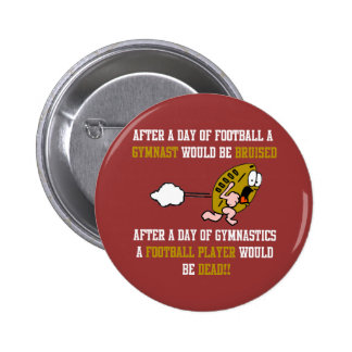 Gymnastics Football Pinback Button
