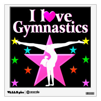 gymnastics wall decals amp wall stickers zazzle womens gymnastics huge wall decal laced up decals