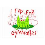 Gymnastics frog postcard