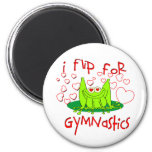Gymnastics frog refrigerator magnet
